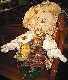embroidered scarecrow