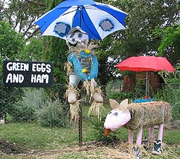 green eggs and ham scarecrow