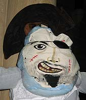 a pirate scarecrow