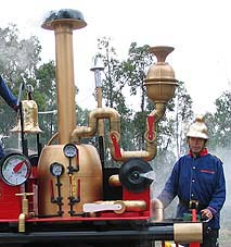 The scarecrow steam engine