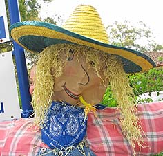 farm girl scarecrow